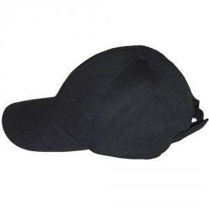 Конопляна кепка чорна