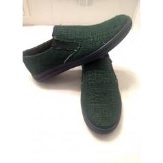 "Конопляне прошите взуття ""Стиль зелений"""