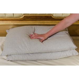 Подушка конопляна з гречаним лушпинням 50х70