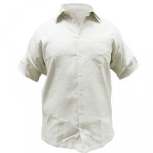Конопляна сорочка з коротким рукавом