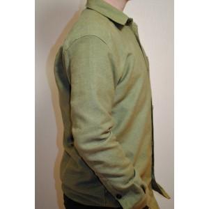 Сорочка з конопель зелена