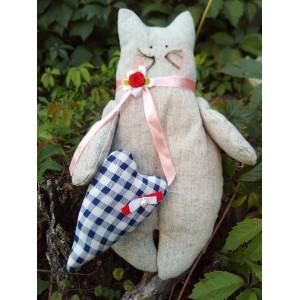 Конопляна іграшка Котик (ручна робота)